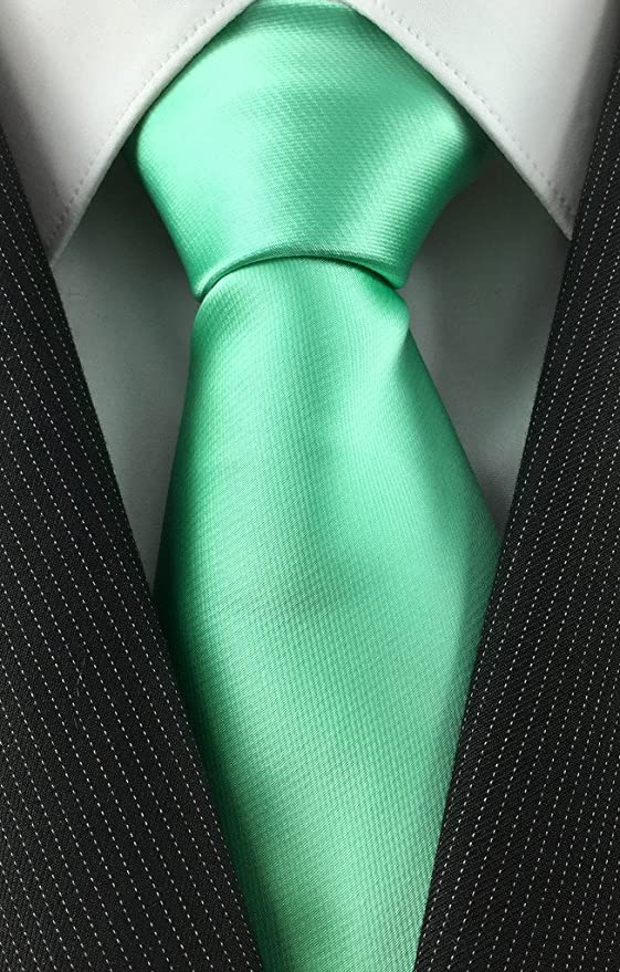 1e0aee8fecbe6 Amazon.com: Imani Uomo Mens Necktie Set Mint Green Solid Colored Tie and Pocket  Square: Clothing