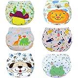 HaimoBurg Confezione da 6 Impermeabili Cotone Mutandine di Apprendimento per Bambino