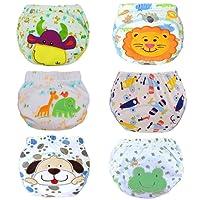Haimoburg 6er Pack Wasserdicht Baby Lernwindel Trainerhosen Unterwäsche Windeln Windelhose Zum Toilettentraining Töpfchentraining