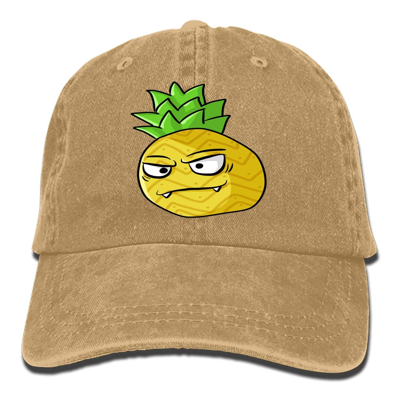 SHUANGRENDE Unisex Cartoon Pineapple Washed Cotton Baseball Cap Vintage Adjustable Dad Hat