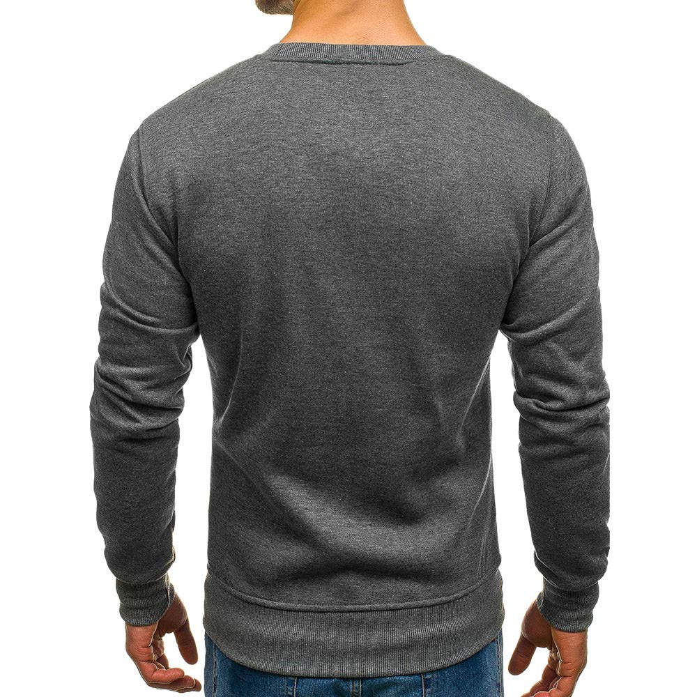 iLXHD Men/'s Polyester Long Sleeve Autumn Winter Casual Sweatshirt Top Blouse Tracksuits