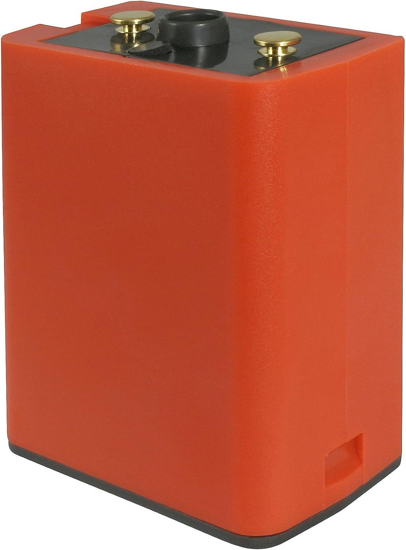 for RELM//Bendix-King Portable Radio fits: Bendix King DPH//EPH//GPH//LPA//LPH//LPX Premium Alkaline Clamshell Battery Holder Orange Holds 9 AA Batteries