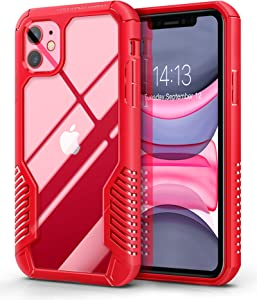 MOBOSI Vanguard Armor Designed Compatible with iPhone 11 Case, Rugged Cell Phone Cases, Heavy Duty Military Grade Shockproof Drop Protection Cover Compatible with iPhone 11 6.1 Inch 2019 (Red)