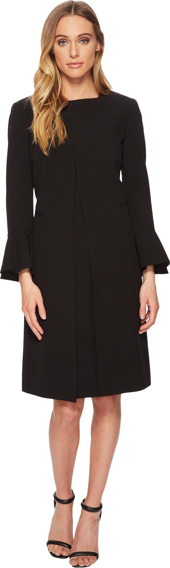 Tahari by ASL Women's Crepe Jacket Dress w/Tulip Sleeve Black 16
