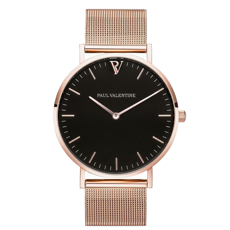Paul Valentine Armbanduhr | Pearl Rose Gold Mesh | Damen Uhr mit elegantem & zeitlosen Design und feinstem Edelstahl
