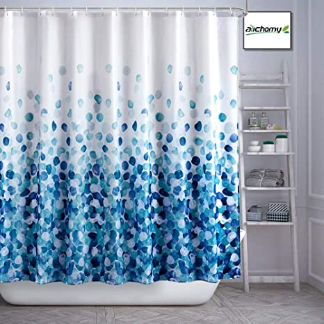Amazon Com Arichomy Shower Curtain Set Bathroom Fabric Fall Curtains Waterproof Colorful Funny With Standard Size 72 By 72 Blue Kitchen Dining