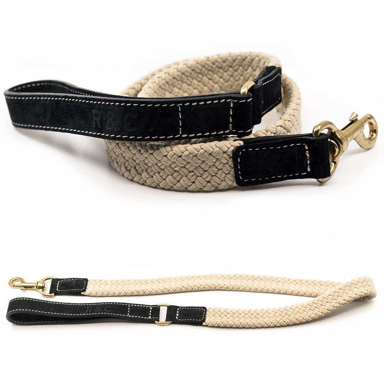 Charcoal Black Ralph & Co Flat Rope Dog Lead (Charcoal Black) & Tigerbox Antibacterial Pen