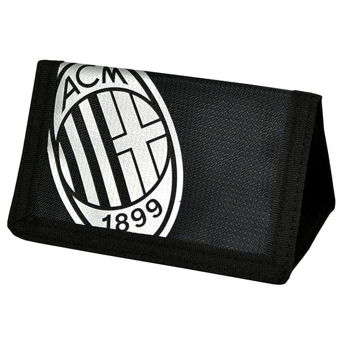 AC Milan - Cartera/Billetera oficial Modelo Foil Print Fútbol (Talla Única/Blanco