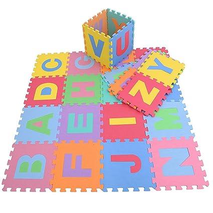 961b4ae49d4 Alfombra rompecabezas de Goma Eva con de 26 letras del alfabeto de  KRAFTZ reg   multicolor