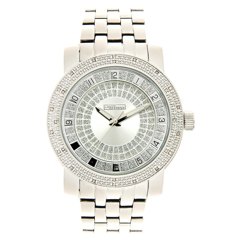 Jojino Bahamas mj1201. 51.30 mm. Rund. Herren Diamant Uhr. (weiß)