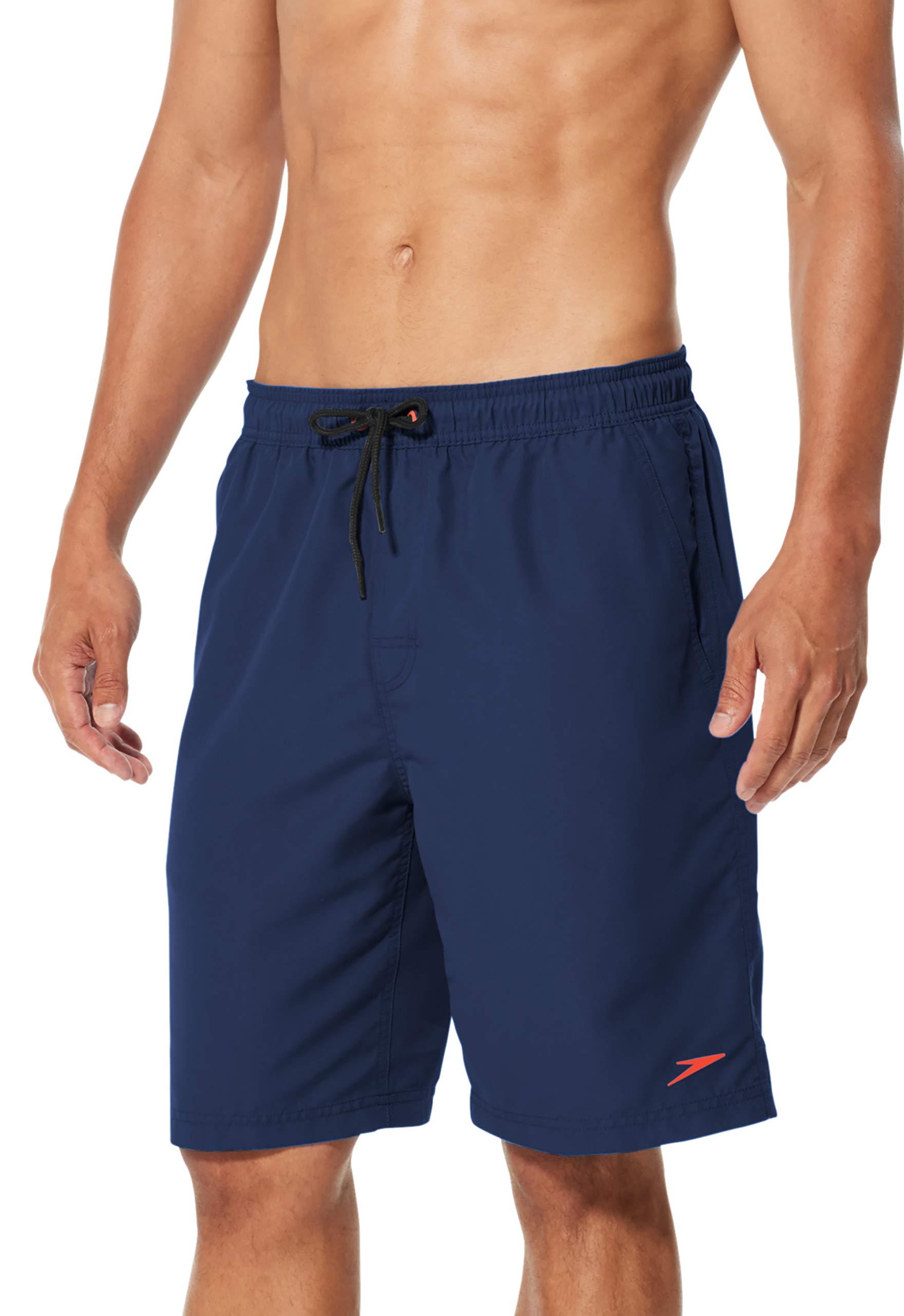 Speedo Men's Comfort Liner Volley 20'' Watershort, Navy, Large by Speedo