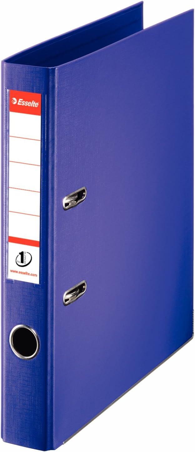 Esselte - Archivador de anillas (tamaño A4, lomo de 50 mm), color morado: Amazon.es: Oficina y papelería