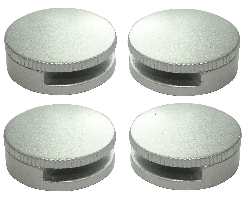 4 Console Patte Support Rond Mural Fixation de Miroir Glace en m/étal Argent Mat 180/° /Ø30mm C41651 AERZETIX