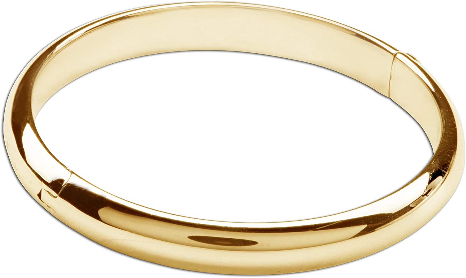 Children's 14K Gold-Plated or Sterling Silver Classic Baby Bangle Bracelet