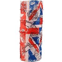 Autofy Unisex Union Jack Print Lycra Headwrap Bandana for Bikes (Blue and Red, Freesize)