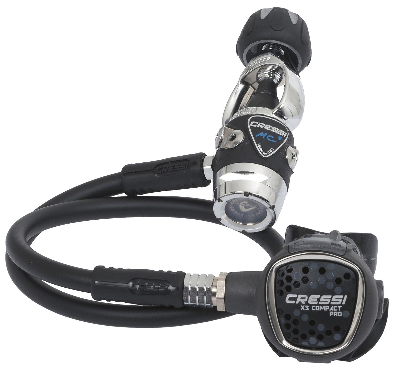 Cressi Mc9-Sc Compact Pro - Int Erogatore Iperbilanciato SC, Nero HX782000