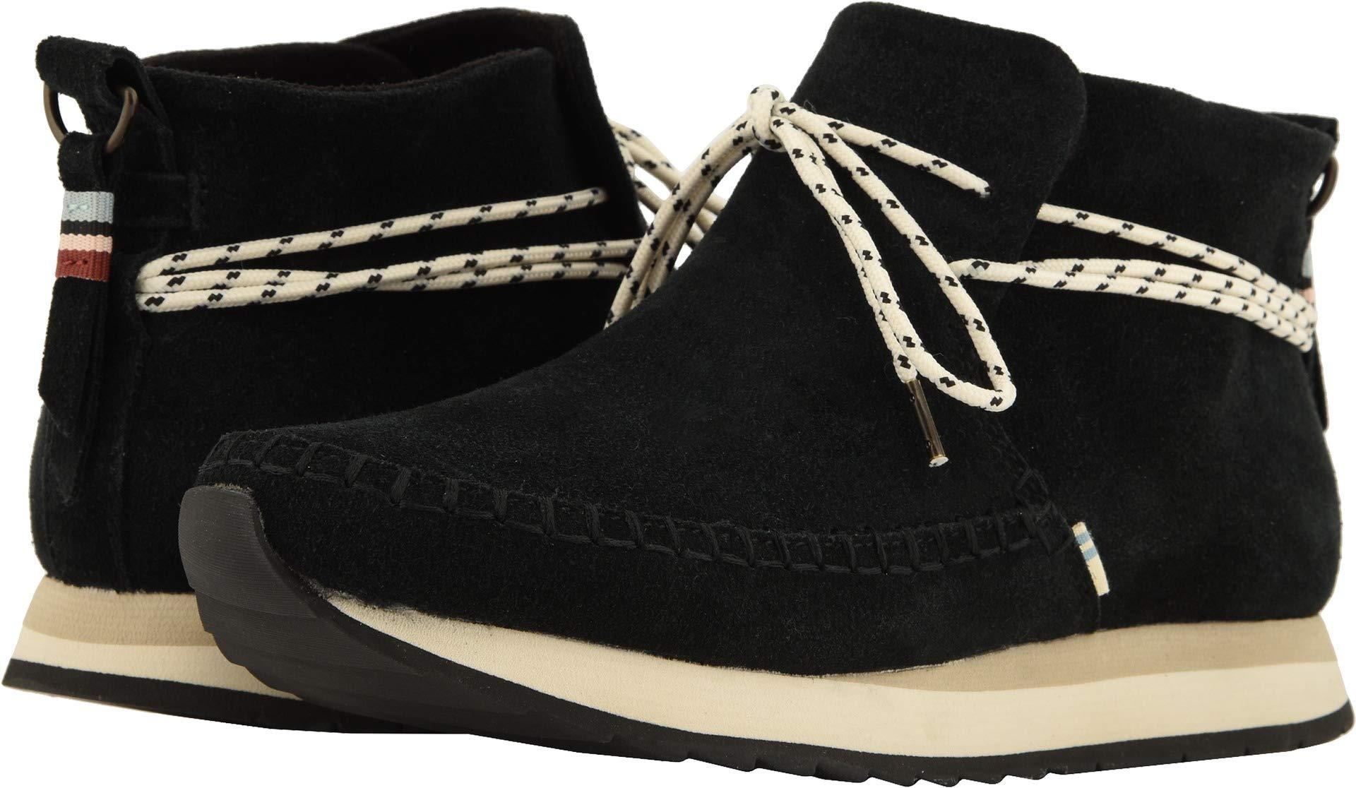 TOMS Women's Rio Suede Sneaker, Size: 7.5 B(M) US, Color Black Suede WR