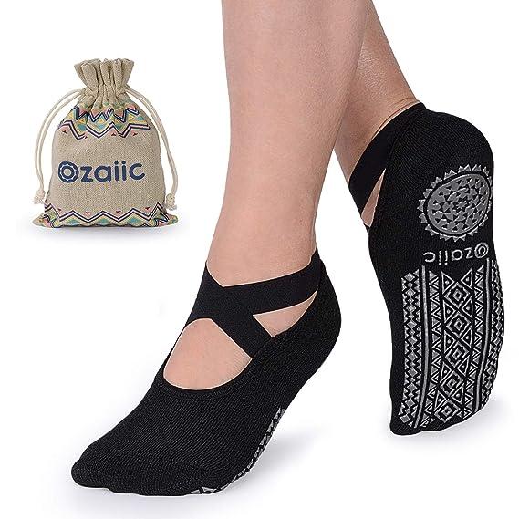 Ozaiic Calcetines Pilates Yoga Antideslizantes, Utilizar para Barre, Yoga, Pilates, Fitness Antideslizantes Calcetines: Amazon.es: Ropa y accesorios