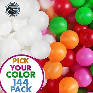 Assortiment de 50 Beer Pong Balls-Balles de ping-pong lavable plastique couleur