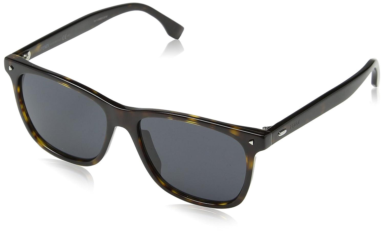 653e67d2d9 Fendi FF M0002/S IR 086 55 Gafas de Sol, Marrón (Dark Havana Grey), Hombre:  Amazon.es: Ropa y accesorios