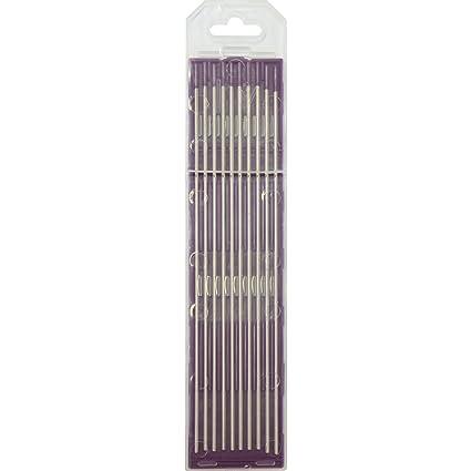 GYS 10 electrodos de tungsteno - Diámetro 1,6 mm - lila para ...