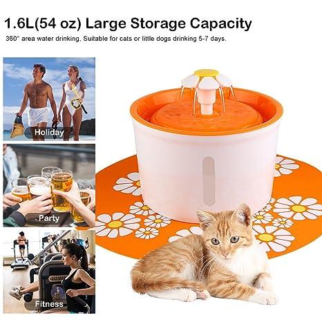 Topchances Fuente de Agua Eléctrica automática para Mascotas, Gatos, Perros, Gatos, con