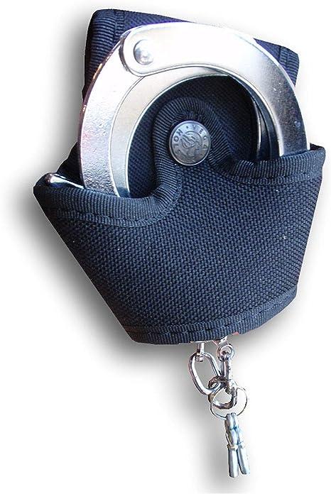 Porta manette Vega Holster aperto 2P77 in cordura BIANCO BLU NERO VERDE cinturon