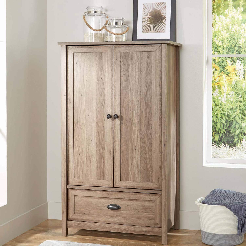 Lafayette Armoire Wardrobe (Washed Oak)