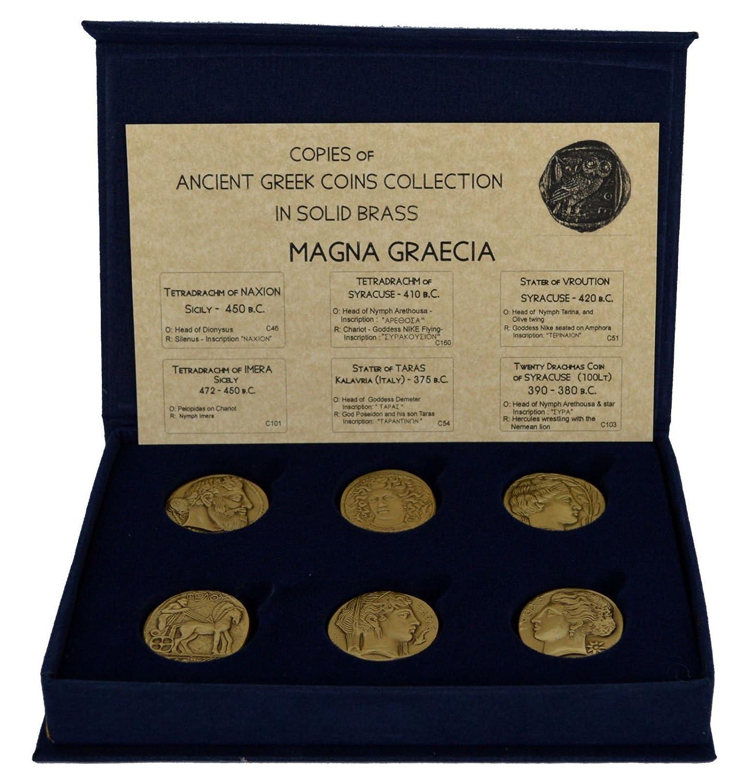 Amazon.com: Estia Creations Historical Replica 6 Bronze Coins ...
