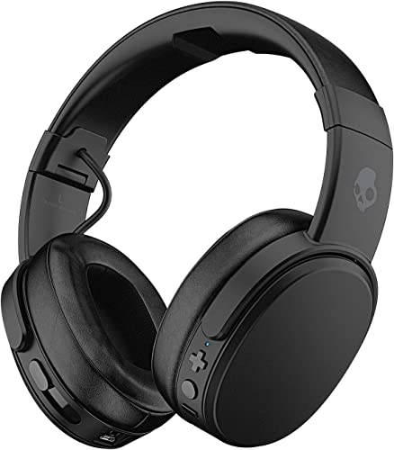 Skullcandy Crusher Bluetooth Wireless Over-Ear Headphones with Microphone – Renewed Black