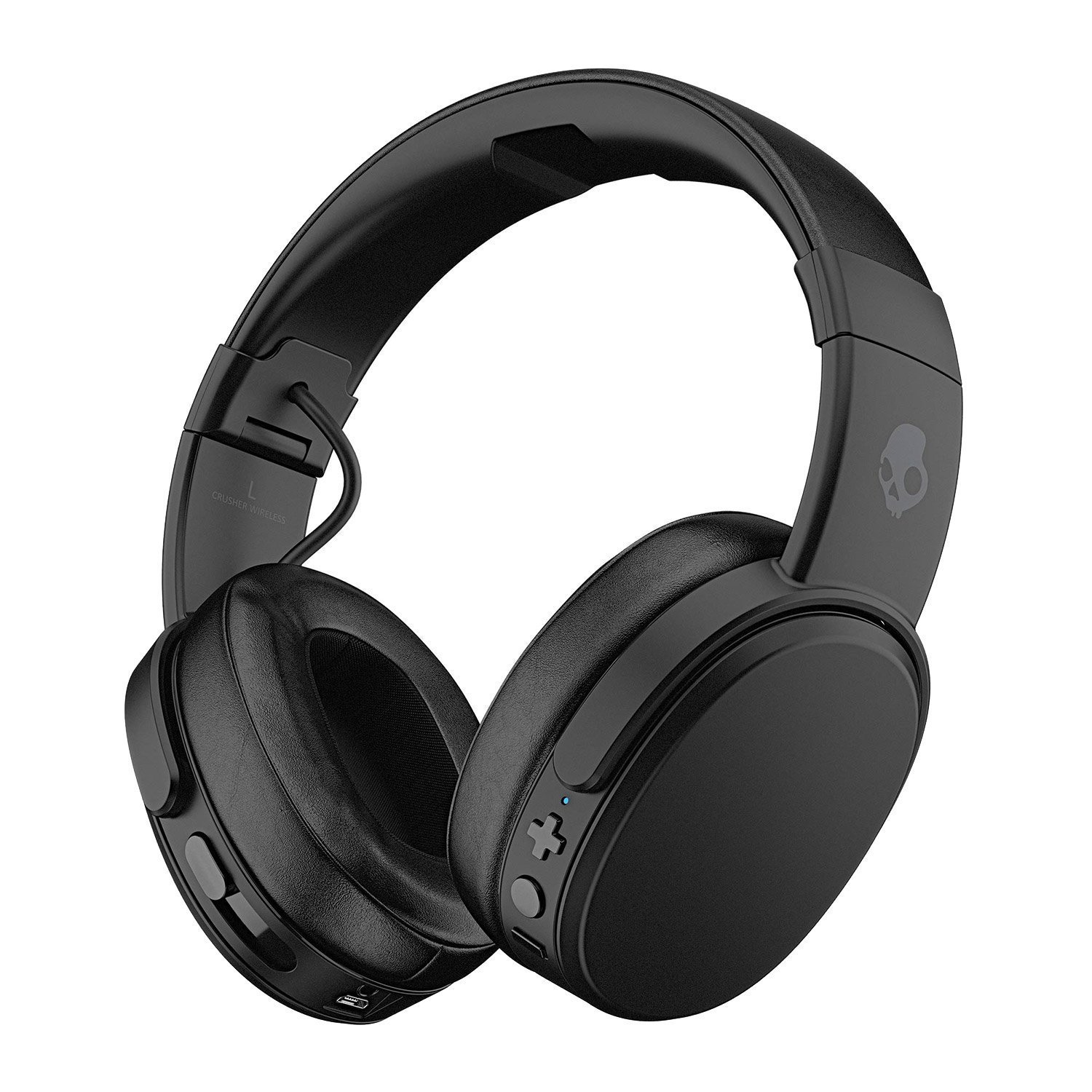 Skullcandy Crusher Bluetooth Wireless Over-Ear Headphones with Microphone - (Renewed) (Black)