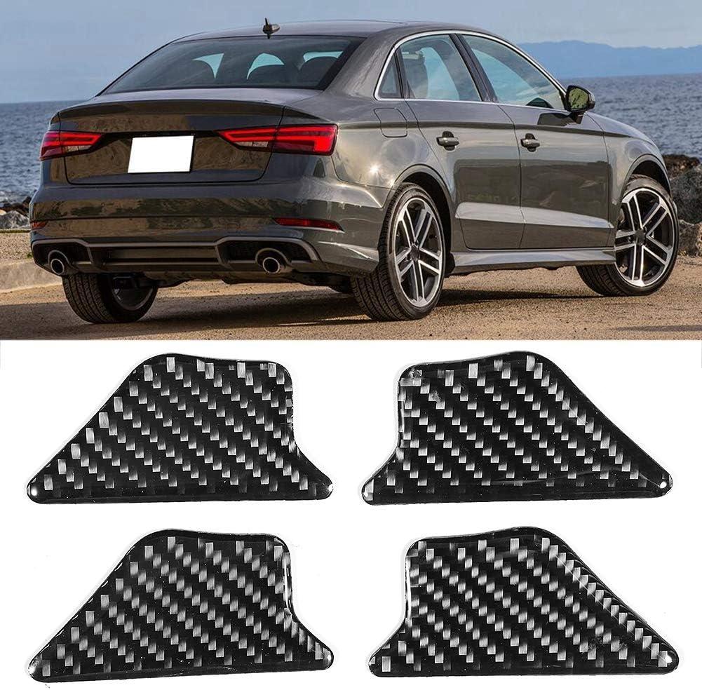 Yctze 4Pcs Car Interior Door Bowl Trim Sticker,Carbon Fiber Style Car Accessory Door Bowl Trim Sticker Fits for A3 S3 8V 2014-2019