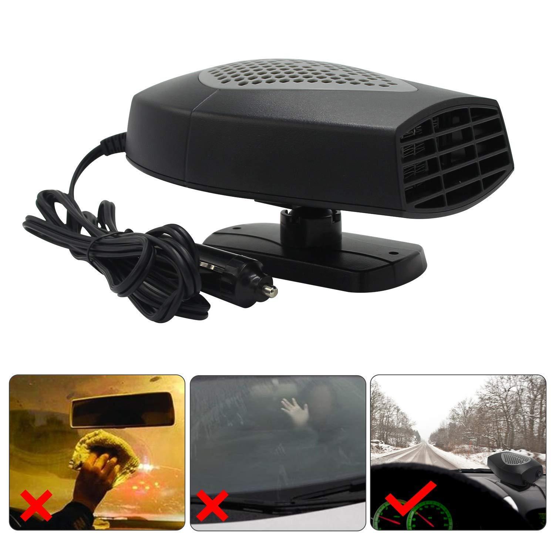Z-overlord Riscaldamento auto, 12 V auto Portable Heater 150 Watt, Riscaldamento veloce Sbrinamento rapido Defogger Demister Ventola di raffreddamento del calore del veicolo (grigio)