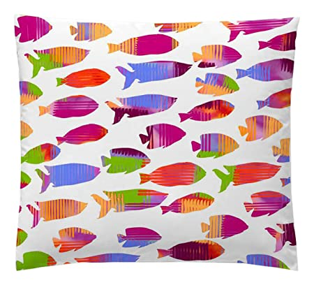 Martina Home Fish Naranja Funda de Cojín, Tela, Multicolor ...