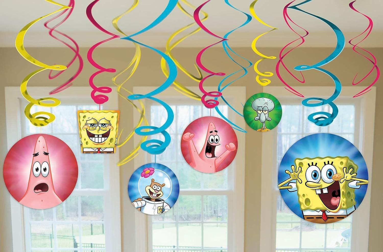 スポンジボブ Spongebob クルクル回る吊るし型 飾り パーティ 12点セット   B008D6GV92