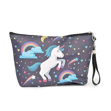 Amazon.com: Unicorn Bolso de maquillaje con cierre de ...