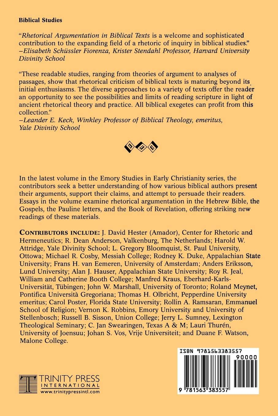 Rhetorical Argumentation In Biblical Texts Essays From The Lund  Rhetorical Argumentation In Biblical Texts Essays From The Lund   Conference Emory Studies In Early Christianity Anders Eriksson Thomas  H Olbricht