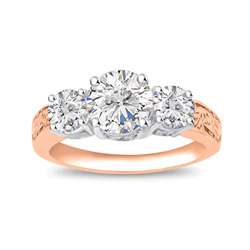 Amazon.com: Diamond Scotch - Anillo de compromiso de 3 ...