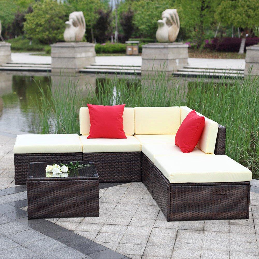 IKAYAA H0065 - Conjunto de Muebles de Jardín Patio Terraza Aire ...