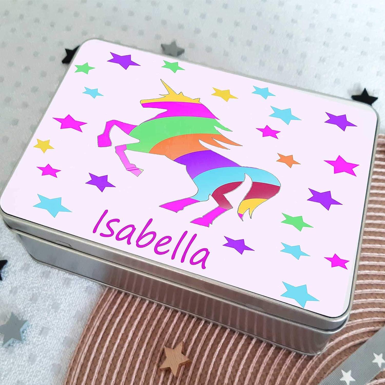 Birthday Present Girls Personalised Storage Jewellery Box Tin Room accessories Hair Tin Girls Gift