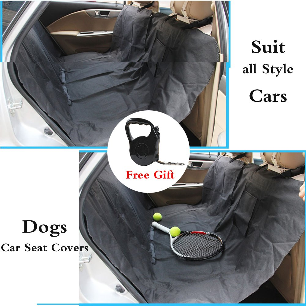 Car Seat Cover+Free Gift HomDSim Back Seat Dog Covers+Free Retracable Dog Leash,Car Hammock Seat Predector for Pets,Pet Seat Covers for Subaru Cars Trucks and Suv (Car Seat Cover+Free Gift)