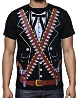 Viva Mexico Men's Mexican Mariachi Pistolero Bandido Cowboy Costume T-Shirt