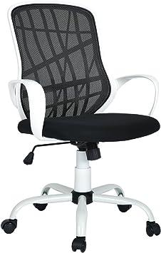 FurnitureR Mid-Back Swivel Work Office Desk Task Chair Adjustable Computer Chair
