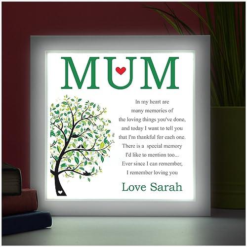 Mum Personalised Keepsake Poem Mothers Day Birthdays Xmas Gifts