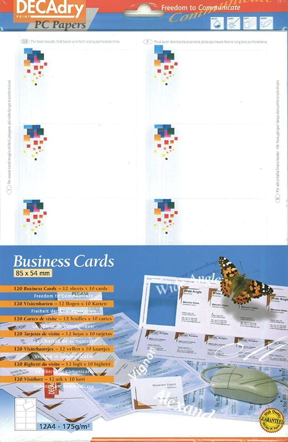 Decadry Business Cards Pixels Theme Make Your Own Business