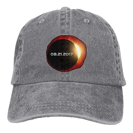 Xdevrbk 2017 Total Eclipse Solar Gorras De Béisbol Sombreros De Mezclilla para Hombres Mujeres Unisex3