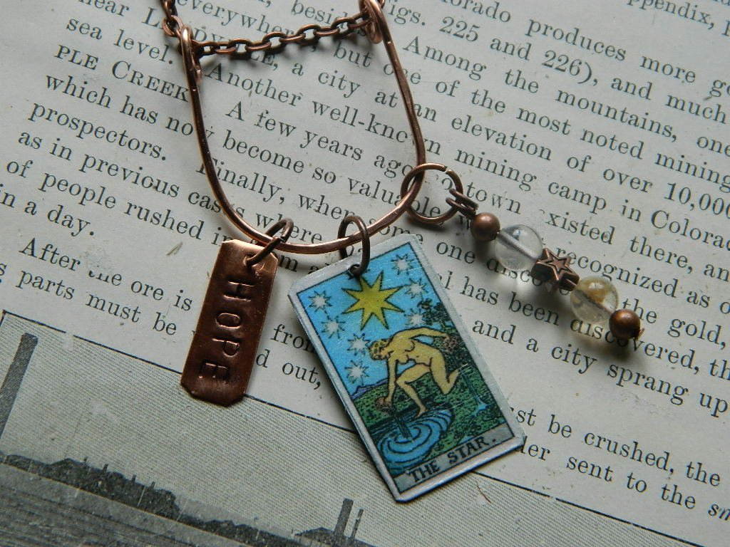 Genuine Necklace genuine with an accent bead in your choice of colors Hand-Stamped Word Necklace