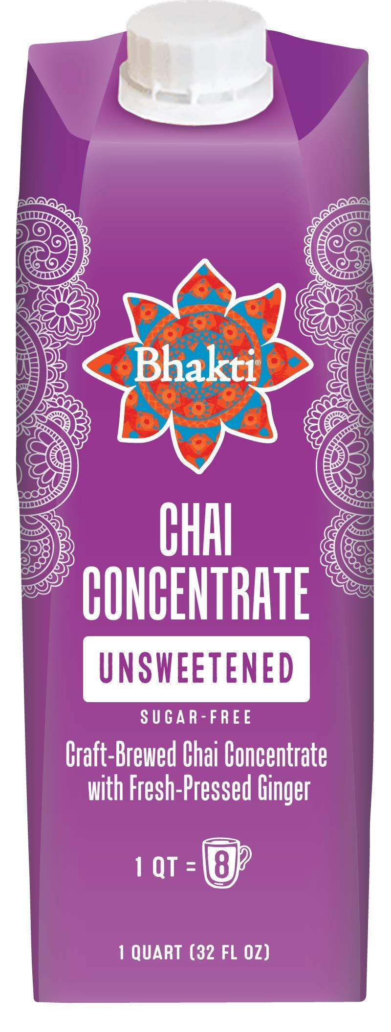 2749ea6cbb7 Bhakti Fair Trade Dairy Free Premium Chai Tea - Unsweetened Concentrate   (32 ounce
