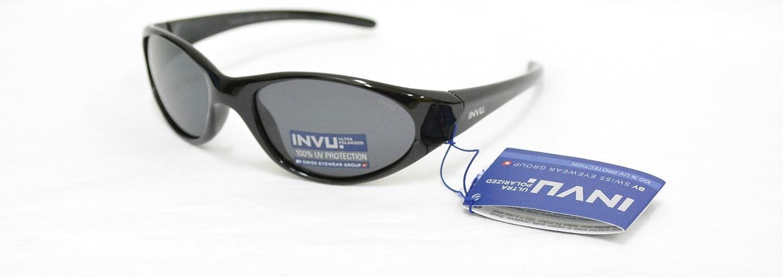 INVU Gafas de Sol polarizadas Bimbo K 2408 A Negro Lentes 100% UV ...