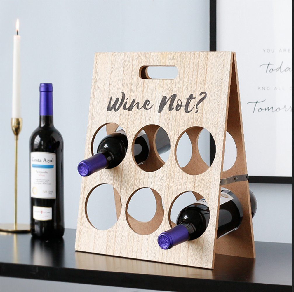 GUIXIN Wine Rack, Wooden Wine Rrack Decoration,Goblet Holder,Natural, Solid Wood - Elegant Storage For Kitchen, Dining Room, Bar, Or Wine Cellar by GUIXIN